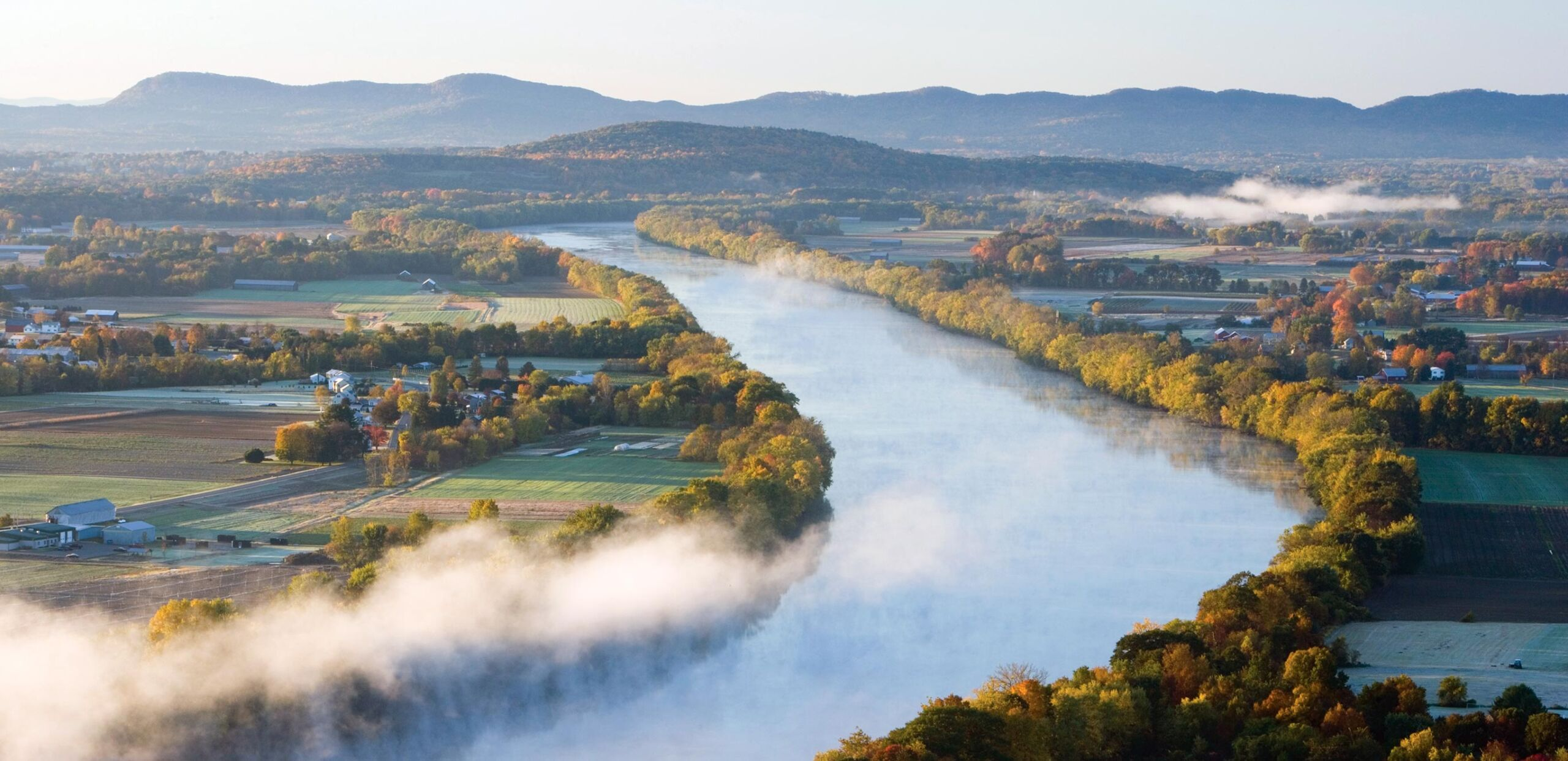 Scenic view of Connecticut River and Pioneer Valley, Cooley Dickinson Health Care System, Northampton, MA 01060.