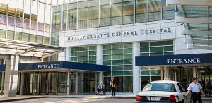 Main entrance, Massachusetts General Hospital, Boston, MA 02114.