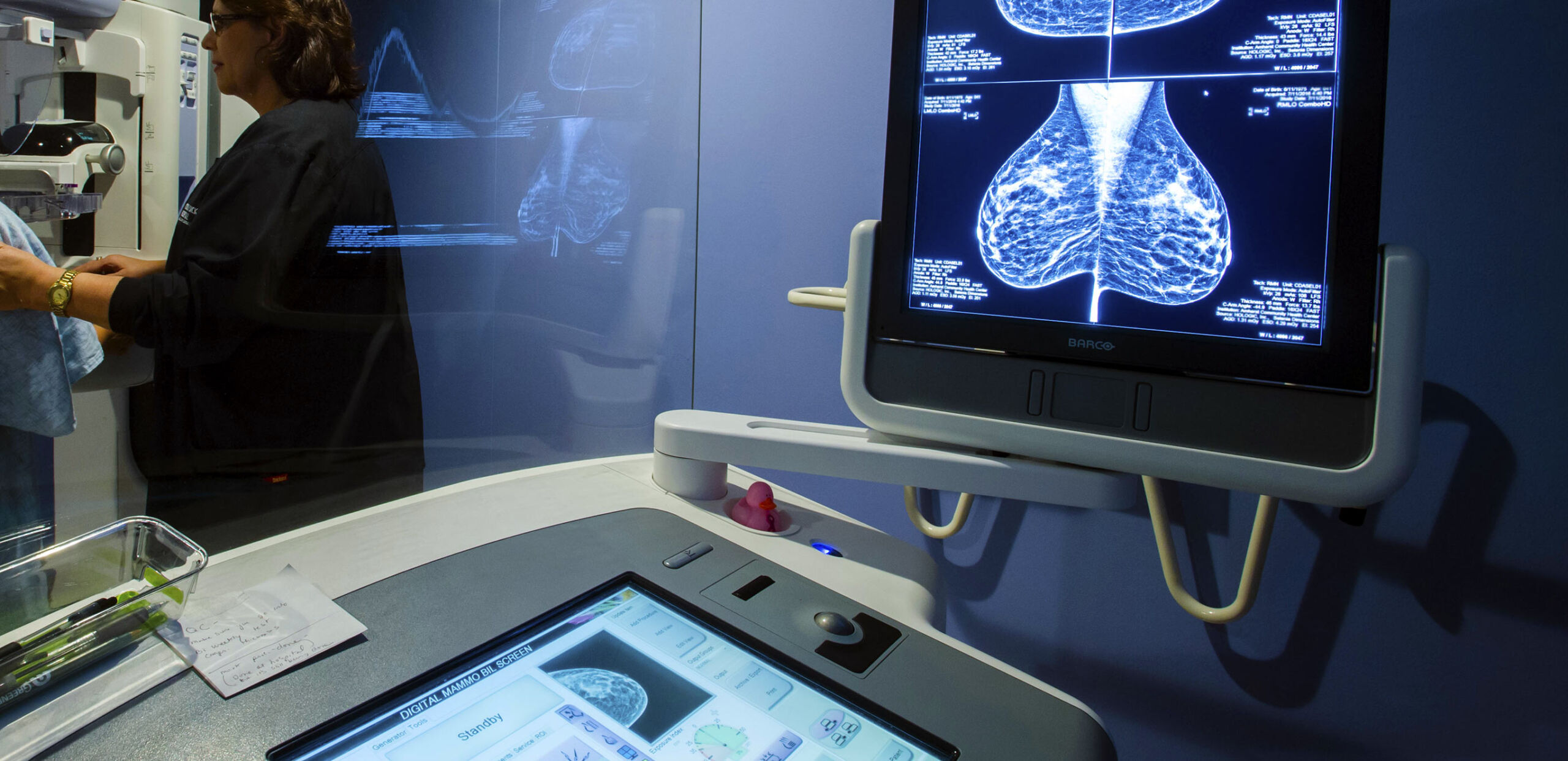 Mammography station, Cooley Dickinson Radiology & Imaging, Amherst, MA
