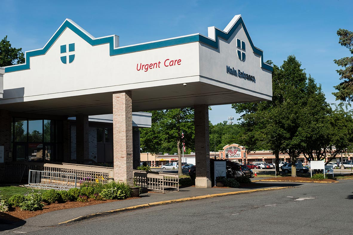 Entrance to Amherst Medical Associates, 170 University Drive, 2nd floor, Amherst, MA 01002.