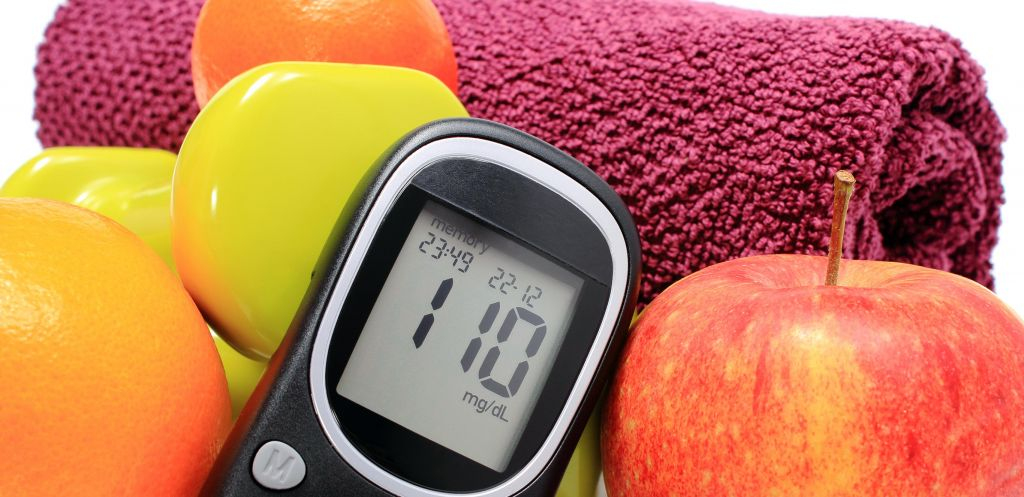 Blood-sugar monitor with apples, Cooley Dickinson Medical Group Diabetes Center, Northampton, MA 01060..