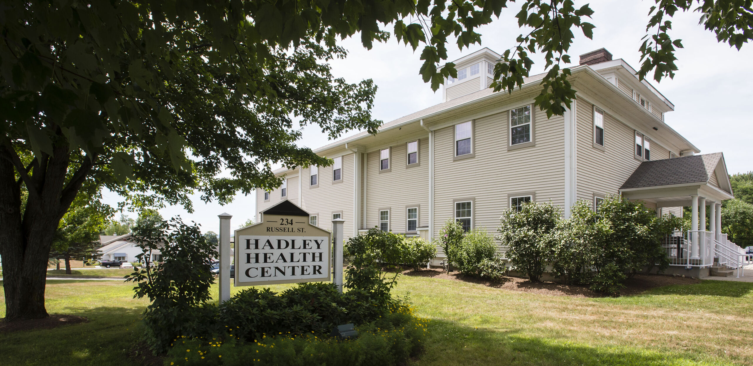 Entrance to Hadley Family Medicine building, 234 Russell Street, Suite 7, Hadley, MA 01035.