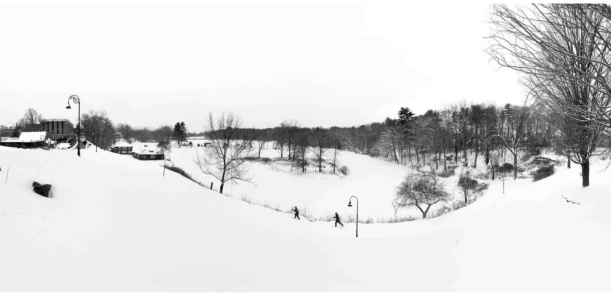 Smith College campus and Paradise Pond in winter, Northampton, MA 01060.