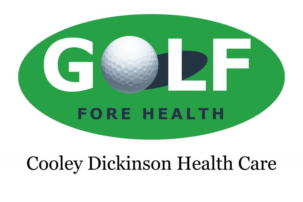 Golf Fore Health tournament logo, Cooley Dickinson Health Care, Northampton, MA 01060.