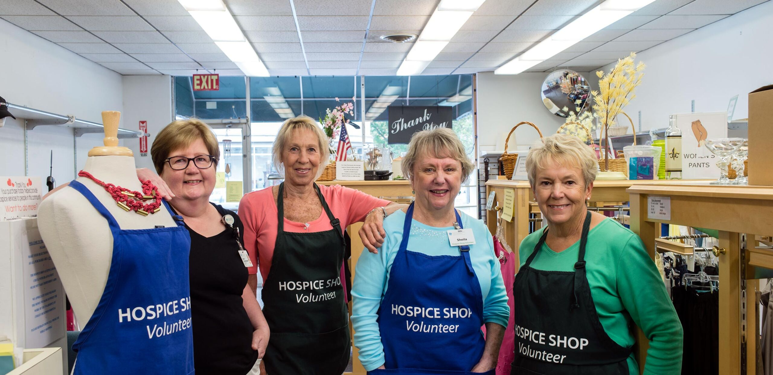 Hospice Shop volunteers, Cooley Dickinson Medical Group VNA and Hospice, Northampton, MA 01060.