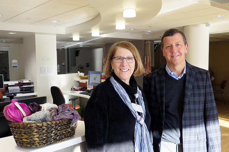 Bill Grinnell, President, Webber & Grinnell, with Joanne Marqusee, Cooley Dickinson Health Care President and CEO.