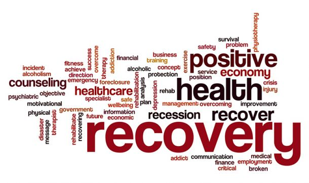 Recovery word cloud, opiold initiative, Cooley Dickinson Hospital, 30 Locust Street, Northampton, MA 01060.