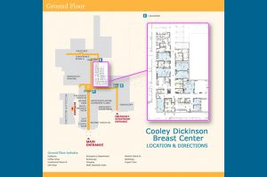 Breast Center Map - Cooley Dickinson Hospital
