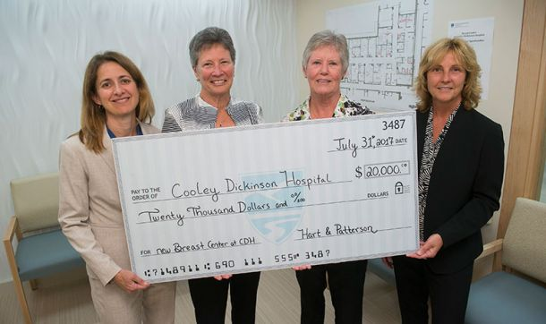 Hart & Patterson Donate to Cooley Dickinson Breast Center