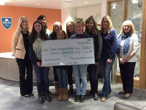 Hampden County Horsepower 4H Club donation to Mass General Cancer Center at Cooley Dickinson
