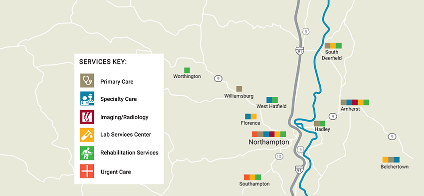 Cooley Dickinson Services and Locations in the Pioneer Valley