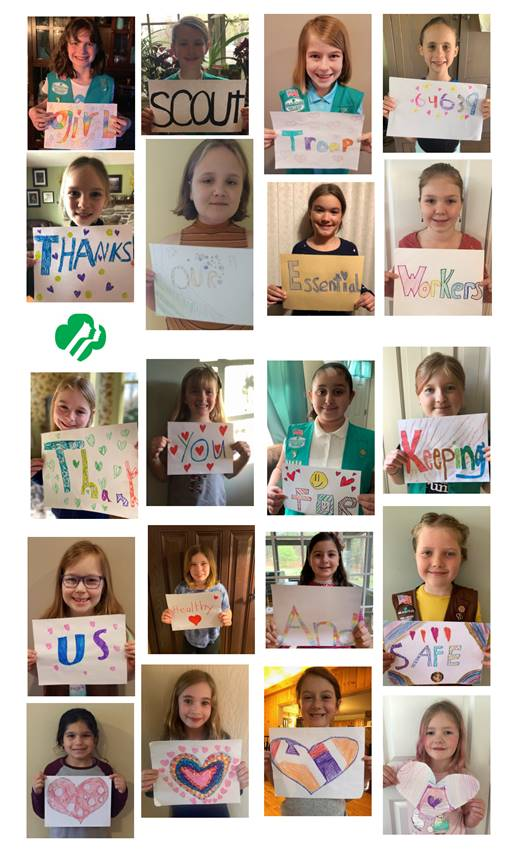 Many thanks to all of you from Girl Scout Troop 64639 of Easthampton!