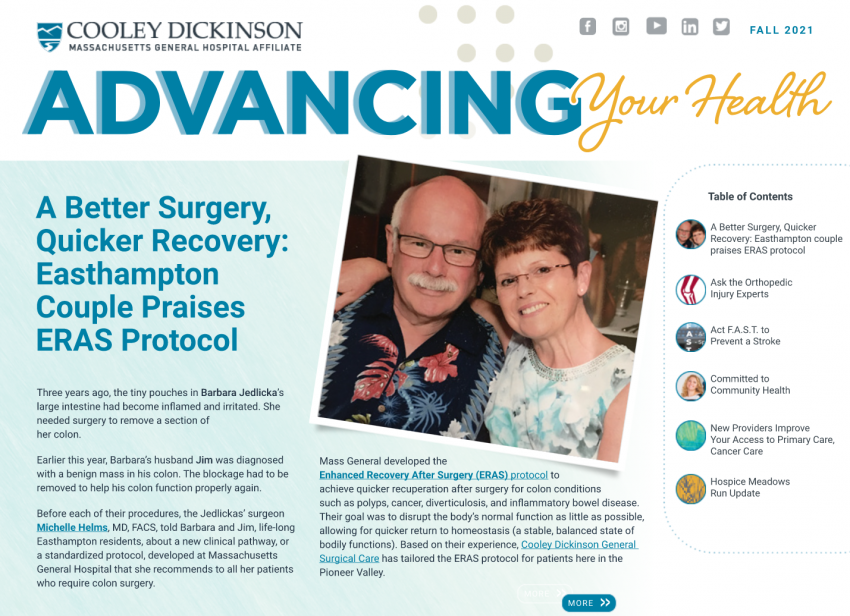 Cooley Dickinson Heath Care - Advancing Your Health: Fall 2021